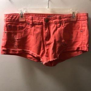 🔵F21 Coral NWT Denim Shorts